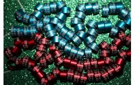 """Именные(персональные) кольца для голубей. Алюминий с лазерной гравировкой, модель """"цилиндр""""."""